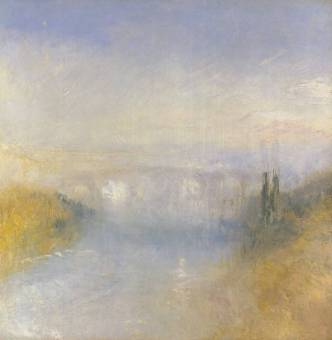 A River Seen from a Hill circa 1840-5 by Joseph Mallord William Turner 1775-1851